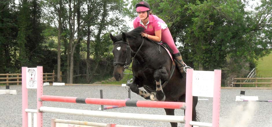 Practising for competitions at Sillaton Farm Stables